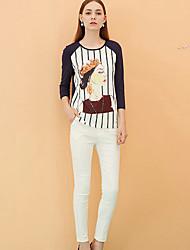 Pantaloni Da donna Skinny Semplice Rayon / Nylon / Elastene Anelastico