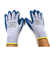 Natural Latex Blue Coating Anti Slip And Anti Thorn Gloves Size 8