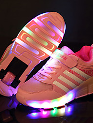 LED Light Up Shoes,Girl's Sneakers Spring / Summer / Fall / Winter Slide / Comfort Leather Outdoor / Athletic / Casual Low Heel/ Hook & Loop / Lace-up