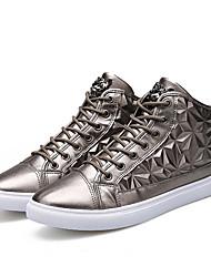 Femme-Extérieure / Bureau & Travail / Habillé / Décontracté / Sport / Soirée & Evénement-Noir / Blanc / Or-Talon Plat-Confort-Sneakers-