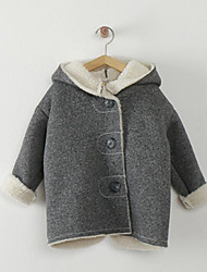 Girl's Casual/Daily Solid Down & Cotton PaddedCotton Winter Gray
