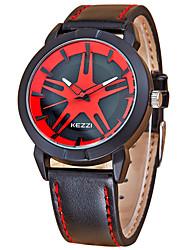 Men's Fashion Quartz Casual Watch Leather Belt Round Alloy Dial Watch Cool Watch Unique Watch Sport Watch