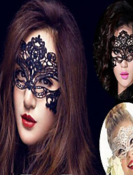 Halloween Party Accessories-1Piece/Set Mask Laces Nonwoven Fabric Classic Theme Other Non-personalised Black / White