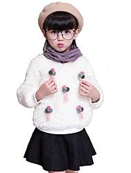 Pull & Cardigan Fille de Couleur Pleine Décontracté / Quotidien Coton / Spandex Hiver / Automne Rose / Blanc / Gris