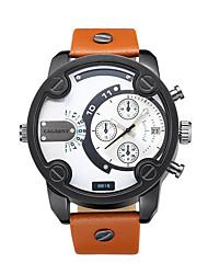 CAGARNY Men Watch /Fashion Watch / Large Dial Watch/Japan Quartz  Calendar/Casual /Cool /Gold /Black
