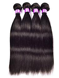3pcs Peruvian Hair Bundles Weaves Natural Black Straight Weft 100% Unprocessed Peruvian Human Hair Weft