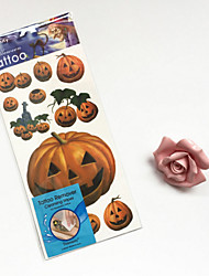 6Pcs The New Halloween Hand-painted Wind Tattoo Stickers With Tattoo Wet Wipes Fashion Exquisite Safety And Health