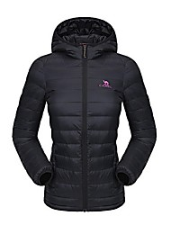 Camel Women's Outdoor Waterproof Lightweight Thin Down Jacket With Hooded Color Black/Grey/Blue/Green/Red/Purple/Fuchsia