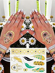 4 Tatouages Autocollants Séries bijoux / Séries de fleur / Séries de totem / Autres / Cartoon Series / Série romantiqueNon Toxic / Motif