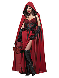 Adult Little Red Riding Hood Cosplay Gothic Vampirt Costumes For Halloween