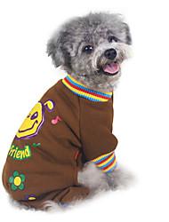 Dog Sweatshirt / Clothes/Jumpsuit Brown / Gray Dog Clothes Winter / Spring/Fall Cartoon Fashion / Keep Warm