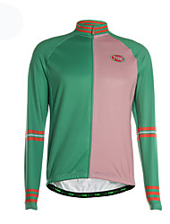 Sports Cycling Jersey Men's Long Sleeve Breathable / Thermal /Front Zipper /Ultra Light Fabric Bike Jersey