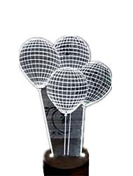 3D Balloon Night Light LED Desk Lamp USB Light Lamp Bedside Lamp