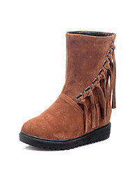 Women's Boots Fall / Winter Comfort Wedding / Outdoor / Dress Platform Split Joint Black / Brown / Yellow Others