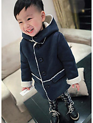 Boy's Casual/Daily Solid Clothing SetCotton Winter Blue / Brown