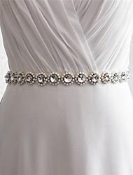 Satin Wedding / Party/ Evening / Dailywear Sash-Beading / Rhinestone Women's 98 ½in(250cm) Beading / Rhinestone