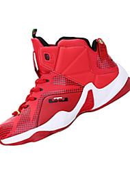 Masculino-Tênis-Conforto-Rasteiro-Vermelho / Prateado / Preto e Dourado / Preto e Vermelho-Couro Ecológico-Para Esporte