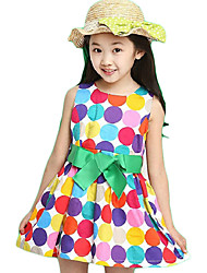 Girl's Casual/Daily Polka Dot Dress,Satin Summer Sleeveless
