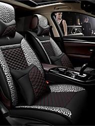 LDJ couro leopardo almofada padrão de carro