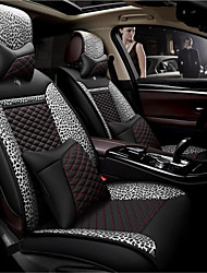 LDJ Leather Leopard Pattern Car Cushion