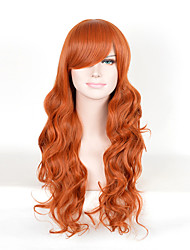 Beautiful Women's Wavy Brown Long Cosplay Wigs Heat Resistent