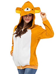 Cute Rilakkuma Bear Hoodie Jacket Polar Fleece Kigurumi  Casual Top Cosplay Costume Adult Unisex