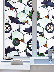 Window Film Window Decals Style Fashion Creative Dolphin PVC Window Film - (100 x 45)cm