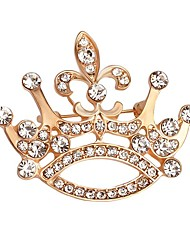 Hot Sale Shining Crystal Crown Brooch for Women