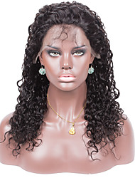 Remy Human Hair Natural Color Loose Curly 10-26inches Light Brown Swiss Lace 130% density Full Lace Wig