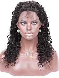 remy cheveux humains couleur naturelle 10-26inches bouclés en vrac brun clair suisse dentelle 130% la densité de pleine perruque de