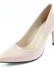 Damen-High Heels-Lässig-Leder-StöckelabsatzDunkelbraun Hautfarben