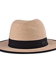 Unisex Sombrero para el sol Vintage / Casual-Todas las Temporadas-Paja
