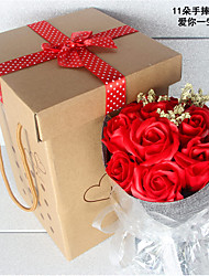 Natal Party Favors & Gifts-11Peça/Conjunto Presentes Pétalas 100% Celulose Virgem Tema  Jardim Cubóide PersonalizadoChampanhe / Vermelho