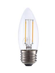 2W E26/E27 Ampoules à Filament LED B 2 COB 200 lm Blanc Chaud Gradable V 1 pièce