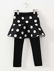Girl's Casual/Daily Polka Dot Dress / LeggingsCotton / Spandex Winter Black