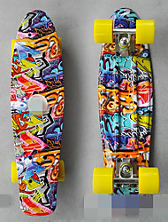 22 inch single become warped plate manufacturers selling fish skateboard Adult plastic Four-wheel banana plate