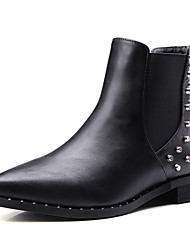 Women's Soft Material Pointed Closed Toe Solid Low Top Low Heels Boots