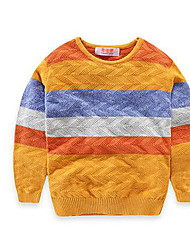 Boy's Casual/Daily Striped Sweater & CardiganCotton Spring / Fall Blue / Yellow