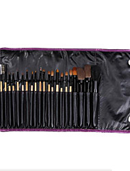 21 Makeup Brushes Set Goat Hair Portable Wood Face NFSS