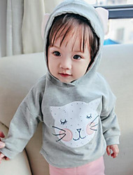 Baby Casual/Daily Animal Print Clothing Set-Cotton-Fall-Pink / Gray