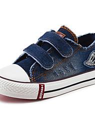 Boy's Sneakers Spring / Fall Comfort Canvas / Cotton Outdoor / Casual Flat Heel Hook & Loop Blue Walking / Sneaker