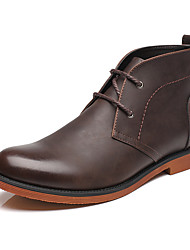 Men's Boots Winter Cowboy / Western Boots / Fashion Boots / Bootie / Comfort Leather  Black / Brown