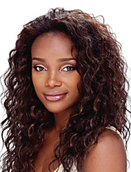 18inch Dark Brown #2 Lace Front Wavy Human Hair Human Hair Lace Front Wigs