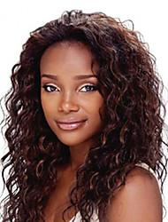 18inch темно-коричневый # 2 фронта шнурка волнистые человеческие волосы фронта шнурка человеческих волос парики