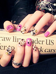 produit des ongles alliage de la mode des ongles artificiels plaquées 24 boîtes de Vente en gros bande de colle