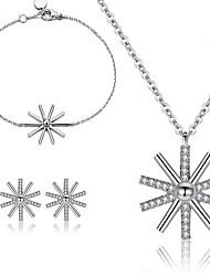 Schmuck Halsketten / Ohrringe / Armband Schmuckset Modisch Party / Alltag / Normal 1 Set Damen Silber / Weiß Hochzeitsgeschenke