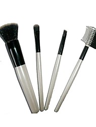 4 Makeup Brushes Set The Persian Wool Portable Wood Face
