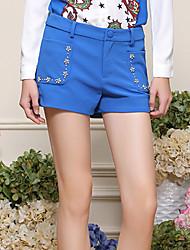 Pantalon Aux femmes Short simple Polyester / Spandex Elastique