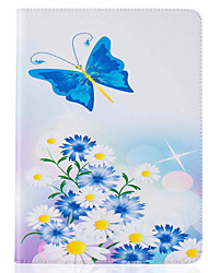 With Stand Flip  Butterfly Pattern Case Full Body Case Hard PU Leather for iPad 234