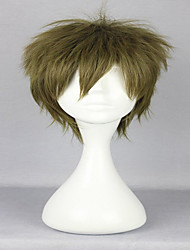 30cm Short Curly Classical Free Makoto Tachibana Style Male Light Green  Cosplay Wig
